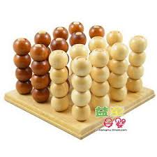 Wooden Strategy Games Connect Four 100 100D Solid Wood Strategy Game Brain Teaser Wooden 58