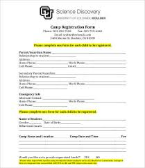 printable registration form template 10 printable registration form templates pdf doc free