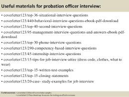 Top 5 Probation Officer Cover Letter Samples