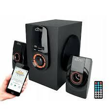 PC Bluetooth Speakers <b>TV</b> Console DVD 2.1 <b>20W Wooden</b> Bass ...