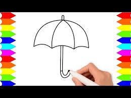 Gambar mewarnai anak tk tema pemandangan. Mewarnai Gambar Payung Untuk Tk