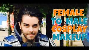 female to male cosplay makeup tutorial
