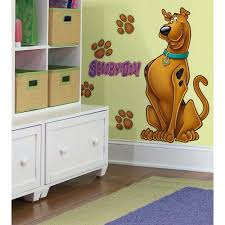 Scooby Doo Bedroom Accessories Scooby Doo Giant Wall Stickers New Peel And Stick Decals Great
