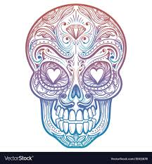 Colorful Mexican Decorative Skull Tattoo