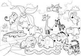 Impressive Idea Zoo Coloring Page Colouring Animals Fortune Pages