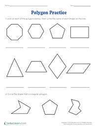 Polygon Practice Worksheet Education Com