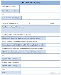 Form Sample Divorce Template Oninstall