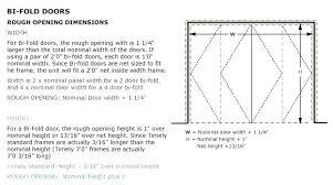 standard sized door standard door rough opening bi fold frame rough opening image standard garage