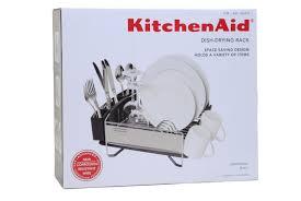 Space Saving Dish Rack Amazoncom Kitchenaid Dish Drying Rack Stainless Steel Space