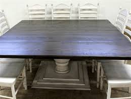 large square dining room table.  Square Large Square Farmhouse Table With Tiered Base And Dining Room T