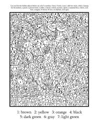 Small Picture Complex Color By Number Printables Coloring Coloring Pages