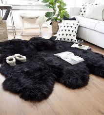black sheepskin rug. Black Sexto Sheepskin Rug | 6 Joined Pelts · Larger Photo Email A Friend