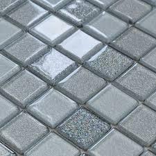 gray crystal glass mosaic tiles design kitchen bathroom backsplash wall floor stickers
