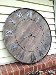 wall clock designs in wood best large rustic wall clock ideas on large wood large rustic