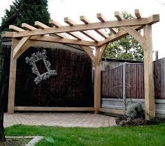 diy garden shade structure oak pergola handmade corner gazebo wood garden furniture garden shelter diy bamboo