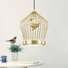modern gold birdcage pendant lamp restaurant bar ceiling chandelier lighting 536