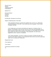 Formal Business Letter Template Sample Email To Client Write