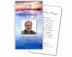 Memorial Card Template Remembrance Cards For Funerals Memorial Card Template Free Best
