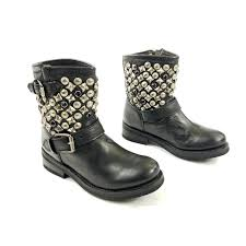 Ash Tennessee Nickel Studded Buckle Biker Boots