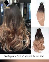 ombre light ash brown clip in hair extensions high quality icp08 queen com