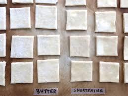 Butter To Shortening Conversion Chart Butter Vs Shortening King Arthur Flour