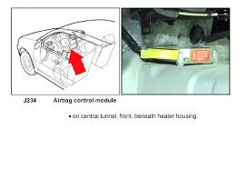 Volkswagen Beetle Airbag Light Reset Where Is The Srs Module Located On My Car