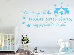 moon and stars wall art sticker decal art
