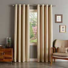 aurora home solid grommet top thermal insulated 108 inch blackout curtain panel pair