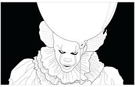 Scary Clown Coloring Pages Luxury Scary Drawing At Getdrawings