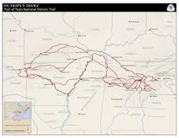 maps trail of tears national historic trail u s national park  trail of tears national historic trail map