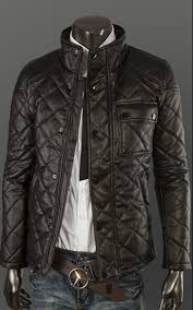Men's Button Pocket Black Quilted Leather Jacket | Style and Decor & Men's Button Pocket Black Quilted Leather Jacket Adamdwight.com