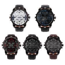 discount aviator watches men 2017 aviator watches for men on discount aviator watches men oulm men s watches aviator military dz quartz watch wristwatch leather strap