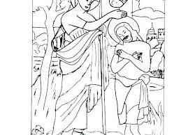 Jesus Coloring Pages Lds Baptism Page As A Child Being Baptized John