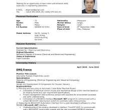 Best Resume Format For Job Inspirational Application Sample With
