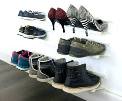 wall mounted shoe shelves ideas about rack on maximize designs wal