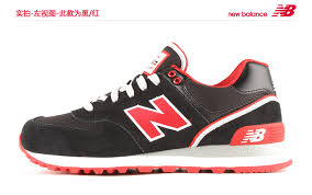 new balance shoes red and black. 2015 / classic new balance 574 womens casual shoes black red and l
