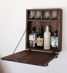 mini barn door wooden murphy bar liquor