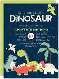 Dinosaur Birthday Invitation Kids Dinosaur Birthday Invitations Purpletrail