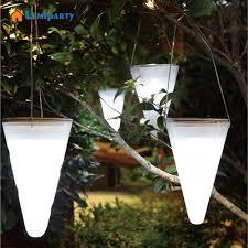 Us 869 30 Offadeeing Solar Led Licht Garten Dekoration Hängen Licht Farbwechsel Kegel Balkon Kronleuchter Outdoor Dekorative Lichter In