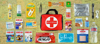 car first aid kit list requirements