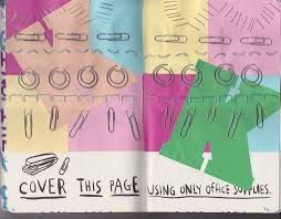 cover this page using only office supplies by purplecontortionist