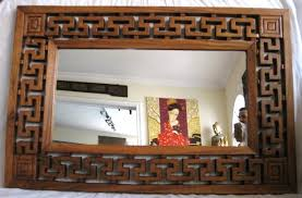 wood mirror frame. 92006102 Mirror With Carved Wooden Frame Size 80W X 120H 4D Cm Wood