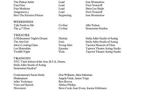 The Acting Theater Resume Example 15 How To Make A Actors Resume
