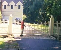 Orange Fence Supply Sliding Swinging Gates Photo Album Wood