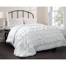 ruffle white comforter medium size of ruby ruffle bedding comforter set white bedspread queen sheets plain