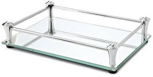 vanity trays for bathroom. Amazon.com: Taymor Square Vanity Mirror Tray With Chrome Rails: Home \u0026 Kitchen Trays For Bathroom
