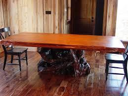Stump Table Mounts Custom Furniture Craft Redwood Burl Inc