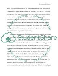Essay Environment Pollution Pollution Of Environment During Petroleum And Gas Synthesis