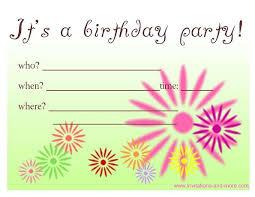 Free Birthday Invitations Free Birthday Invitation Cards At Invitations And More Com