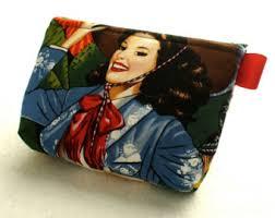 la senoritas retro pin up beautiful latinas fabric gadget pouch small cosmetic bag fabric